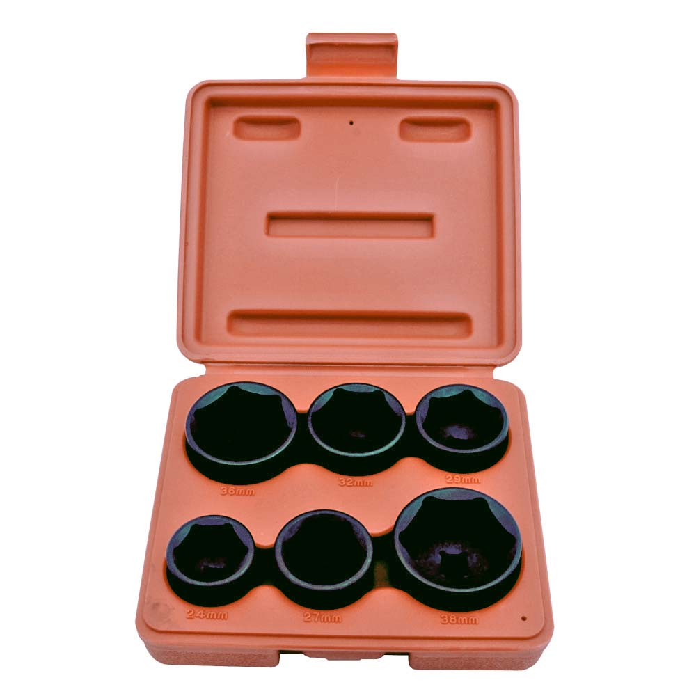 "6PC 3/8"" DR. OIL FILTER SOCKET SET-1"